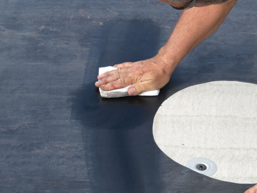 You must thoroughly clean the membrane before applying the patch.