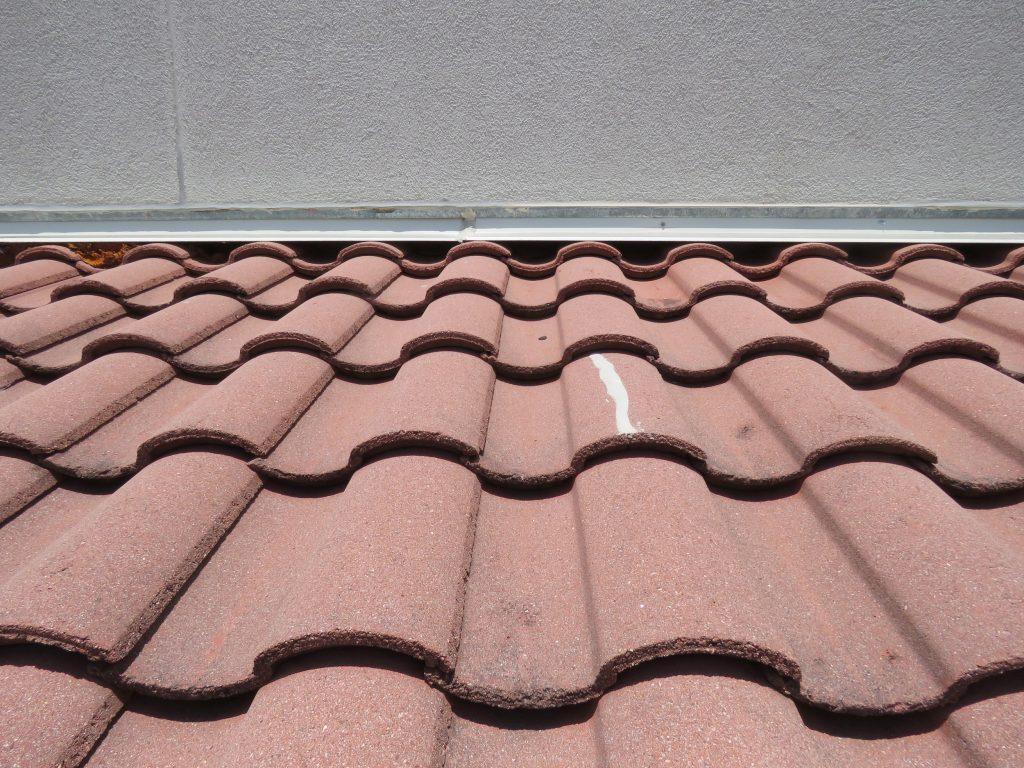 Concrete Spanish tile.