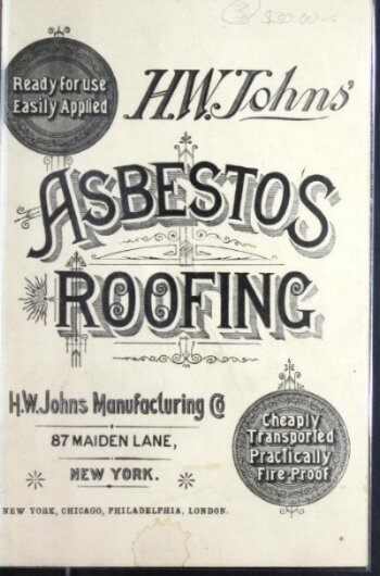 An asbestos roofing brochure from 1887.