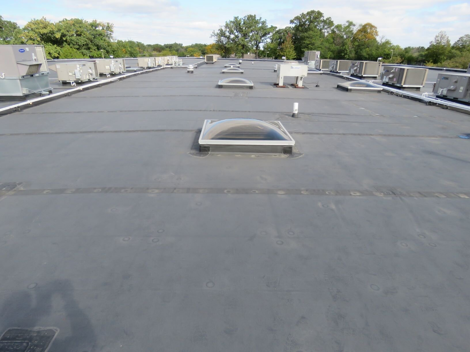 Mechanically-attached EPDM roof.