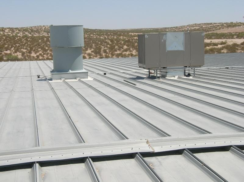 Structural metal panel roof.